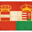 Historic grunge flag of the Austro-Hungarian Monarchy — Stock Photo