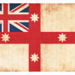 Royalty-Free Stock Photo: Historic grunge flag of Australia (1830)
