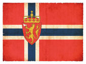Grunge flag of Norway with Coat of Arms — Stock Photo