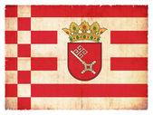Grunge flag of Bremen (Germany) — Foto de Stock
