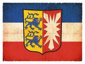 Grunge flag of Schleswig-Holstein (Germany) — Stock Photo