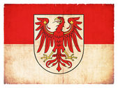 Grunge flag of Brandenburg (Germany) — Stock Photo