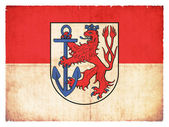 Grunge flag of Duesseldorf (North Rhine-Westphalia, Germany) — Stok fotoğraf