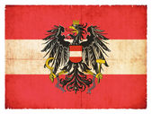 Grunge flag of Austria with Coat of Arms — Stock Photo