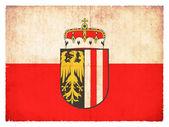 Grunge flag of Upper Austria (Austria) — Zdjęcie stockowe