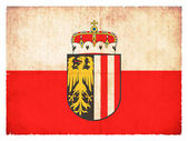 Grunge flag of Upper Austria (Austria) — Стоковое фото