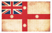 Historic grunge flag of Australia (1830) — ストック写真