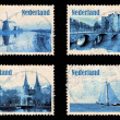 Set with stamps of the Netherlands — Stock Photo