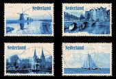 Set mit briefmarken der niederlande — Stockfoto