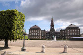 Christiansborg Castle with courtyard — Stock Photo