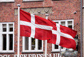 Flags of Denmark — Stockfoto