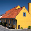 Yellow half-timbered house on Bornholm — Stock Photo
