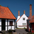 Old houses in Gudhjem on Bornholm — Stock Photo