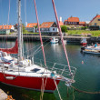 Small harbor in Gudhjem on Bornholm — Stock Photo