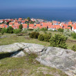 View of Gudhjem of elevated viewpoint on Bornholm — Stock Photo