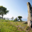 Large monolith on the coast of Bornholm — Stock Photo