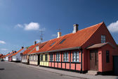 Colorful half-timbered houses in Nexo — Stock Photo