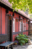 Röda huset på bornholm — Stockfoto