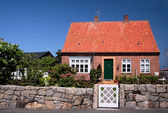 Idyllic family house on Bornholm — Stock Photo
