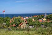 Vantage point above Gudhjem on Bornholm — Stock Photo