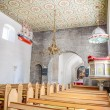 Stock Photo: Nave of St. Peders Kirke on Bornholm