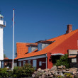The lighthouse in Roenne on Bornholm — Stock Photo
