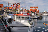 Fishing boats in the harbor — Stock Photo