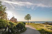 Kustweg op bornholm — Stockfoto