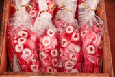 Red heart candies — Stockfoto