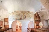 Interior of the church Osterlars Kirke on Bornholm — Stock Photo