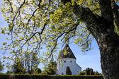 Round church Ols Kirke St. on Bornholm — Stock Photo