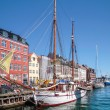 Old boats and houses in Nyhavn in Copenhagen — Stock Photo #28848327