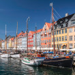 Old boats and houses in Nyhavn in Copenhagen — Stock Photo #28851091