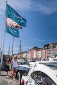 Modern yachts in Copenhagen — Stock Photo