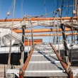 Runway of a tall sailing ship — Stock Photo