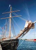 Bow of a big old sailing ship — Stock Photo