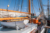 Lifeboat of a large sailing ship — Stock Photo