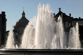 Fountains in front of Amalienborg Palace — Stock Photo
