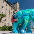 Colourful elephant in Copenhagen — Stock Photo