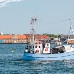 Old fishing boat at Amaliehaven in Copenhagen — Stock Photo