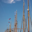 Stock Photo: Masts of large sailing ships