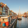 Stock Photo: promenade at nyhavn in copenhagen