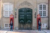 Palace guard at Amalienborg Palace in Copenhagen — Stock Photo