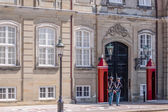 Changing of the guard at Amalienborg Palace — Stock Photo