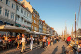 Promenade at Nyhavn in Copenhagen — Stock Photo