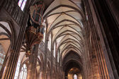 Nave of Strasbourg cathedral — 图库照片