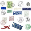 Postage stamps and labels from Italy — Stock Photo #30360929
