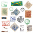 Postage vintage stamps and labels from Brazil — Stock Photo #30361481