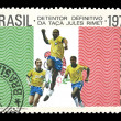 Stamp for the Brazil football World Cup team 1970 — Stock Photo