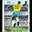 Stamp Brazil 1000 goal of Pele — Stock Photo #30363103